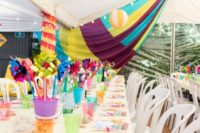 Fun and colourful party marquee