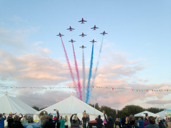 Marquees with Fly Past