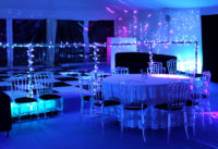 Party Marquee with Ice Chairs