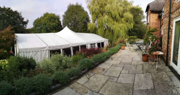 Peak roof marquee